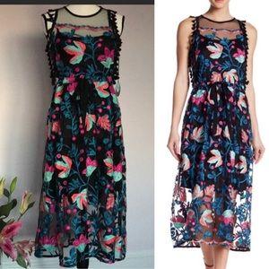 Anthropologie Eva Franco Sage Floral Dress
